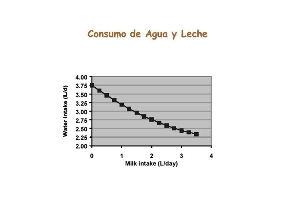 Consumo de Agua y Leche