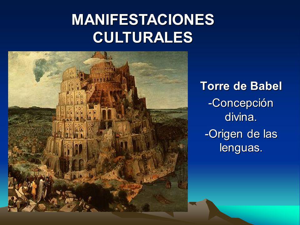 Torre de Babel -Concepción divina. -Origen de las lenguas.