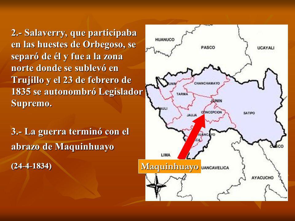 3.- La guerra terminó con el abrazo de Maquinhuayo
