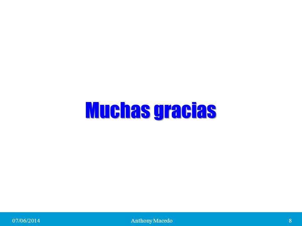 Muchas gracias 01/04/2017 Anthony Macedo