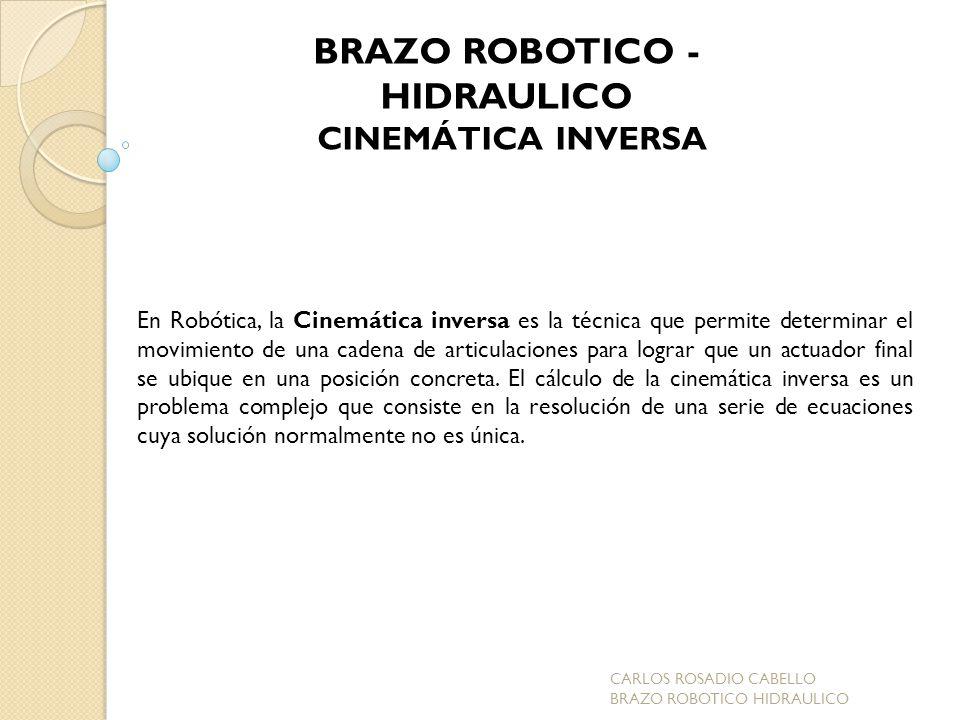 BRAZO ROBOTICO - HIDRAULICO