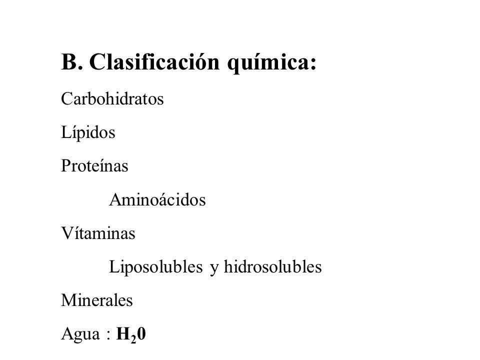 B. Clasificación química: