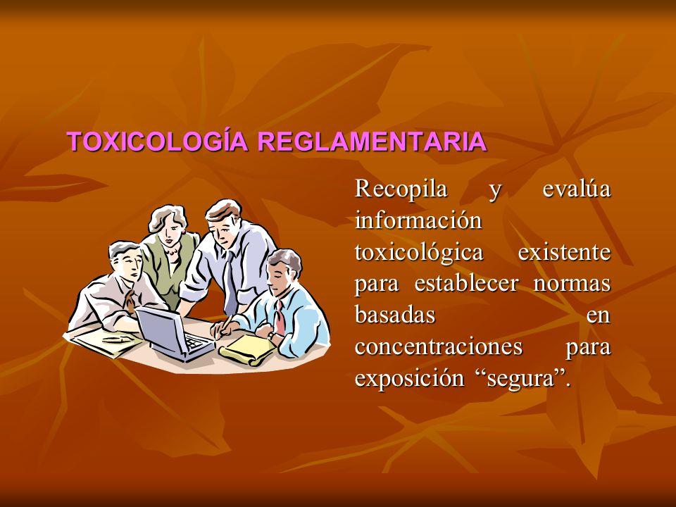 TOXICOLOGÍA REGLAMENTARIA