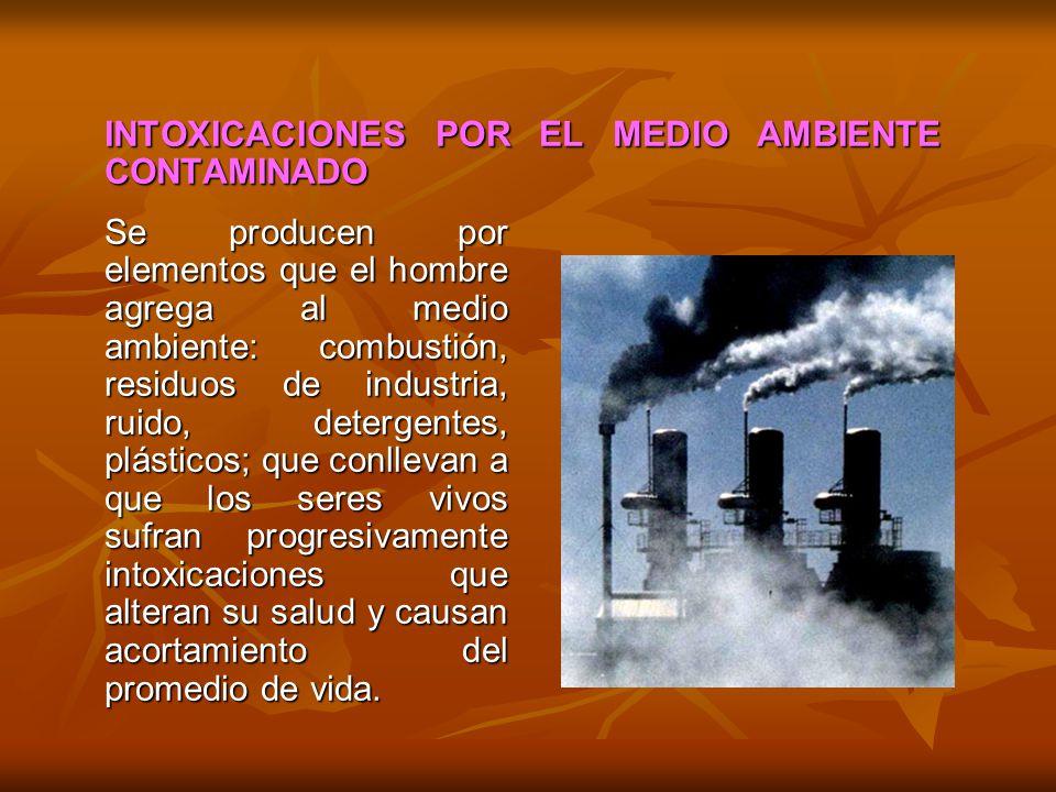 INTOXICACIONES POR EL MEDIO AMBIENTE CONTAMINADO