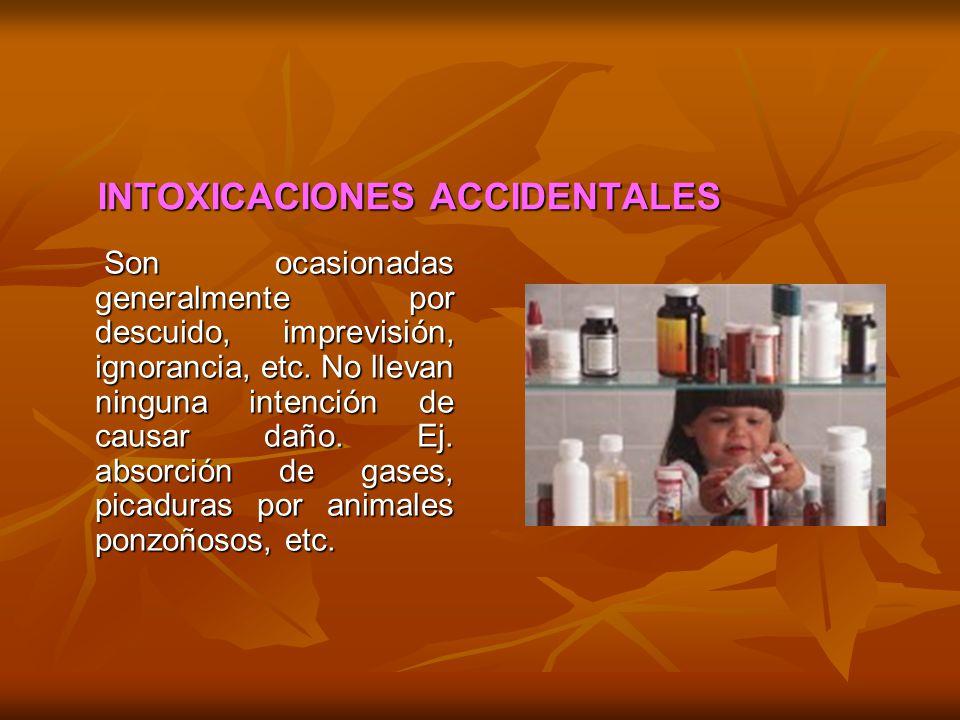 INTOXICACIONES ACCIDENTALES
