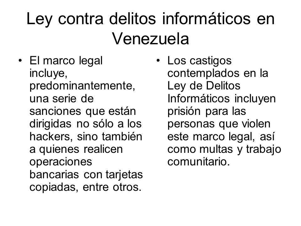 Ley contra delitos informáticos en Venezuela
