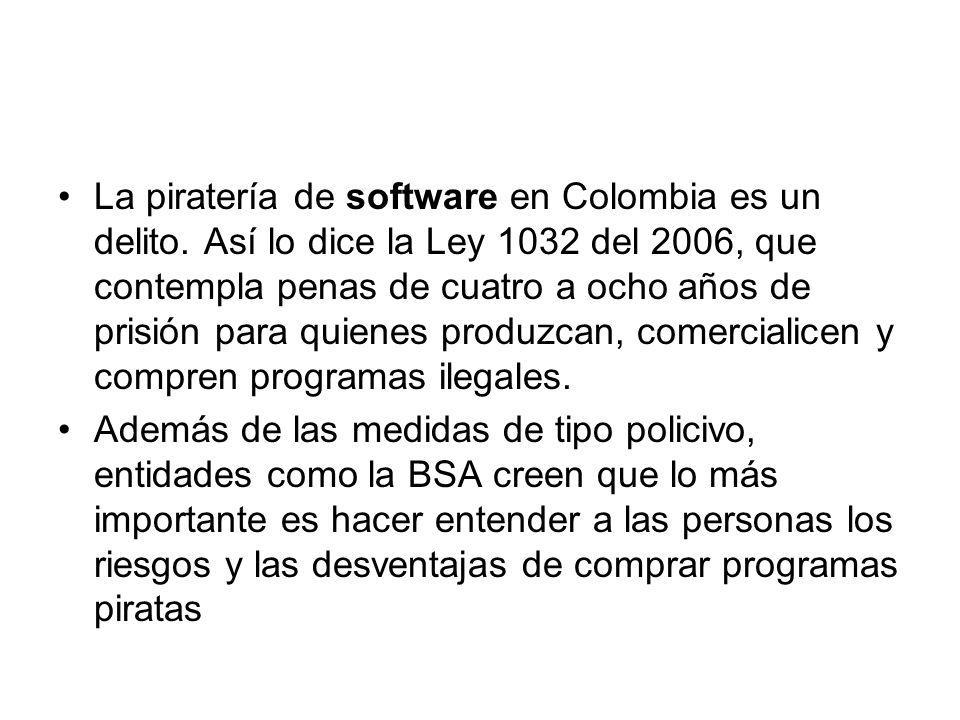 La piratería de software en Colombia es un delito