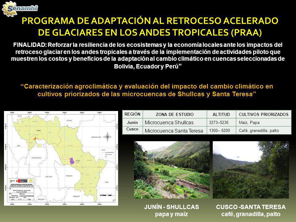 PROGRAMA DE ADAPTACIÓN AL RETROCESO ACELERADO DE GLACIARES EN LOS ANDES TROPICALES (PRAA)