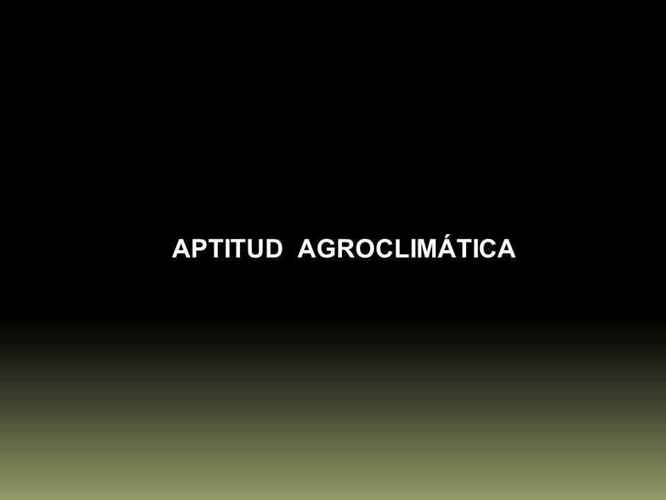 APTITUD AGROCLIMÁTICA