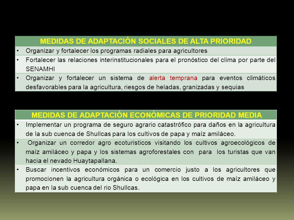 MEDIDAS DE ADAPTACIÓN SOCIALES DE ALTA PRIORIDAD