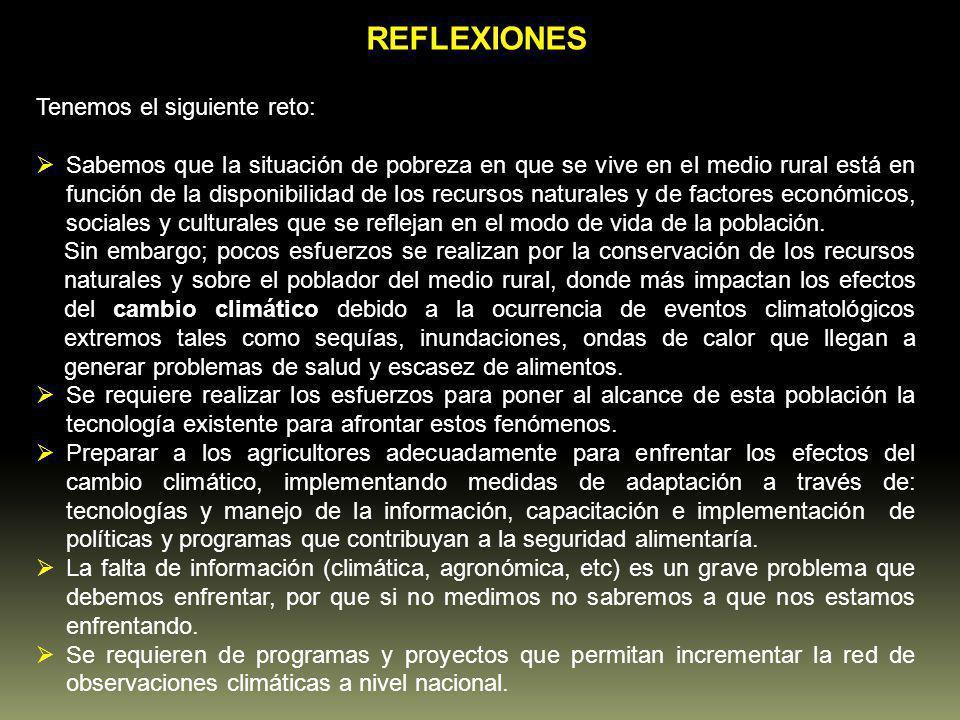 REFLEXIONES Tenemos el siguiente reto: