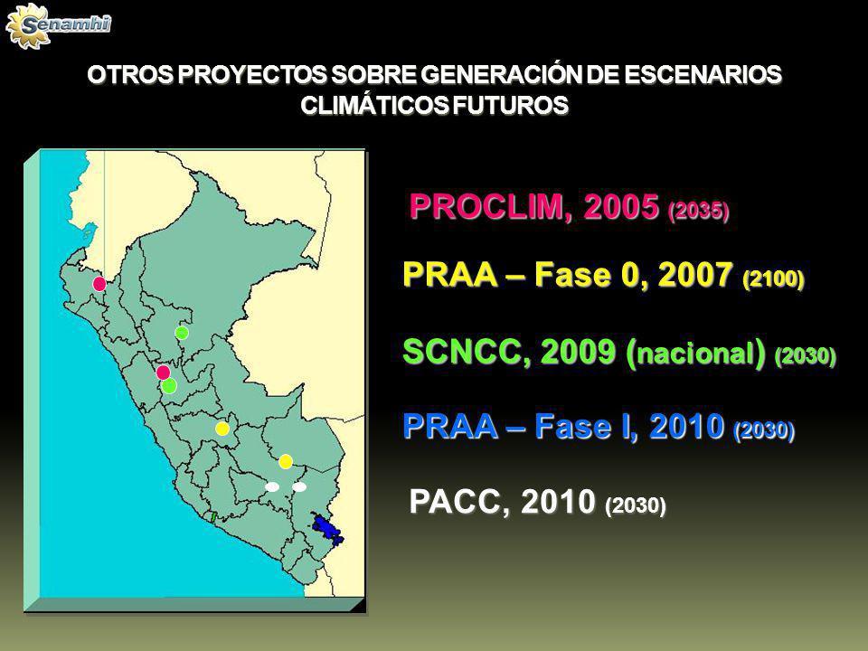 OTROS PROYECTOS SOBRE GENERACIÓN DE ESCENARIOS CLIMÁTICOS FUTUROS