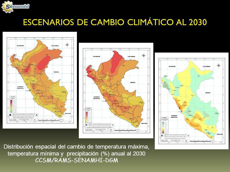 ESCENARIOS DE CAMBIO CLIMÁTICO AL 2030