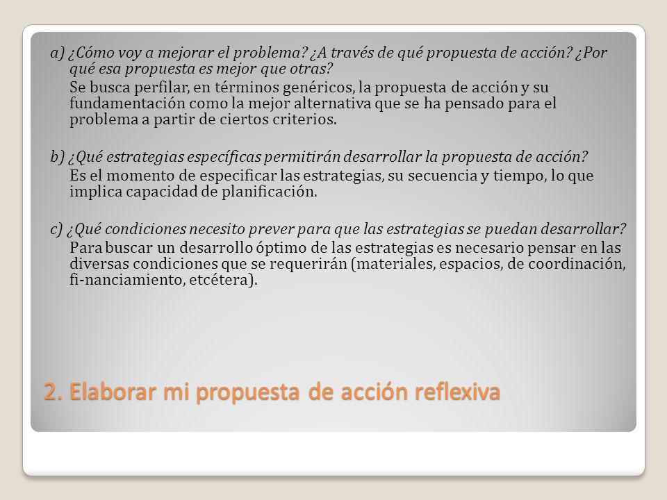 2. Elaborar mi propuesta de acción reflexiva