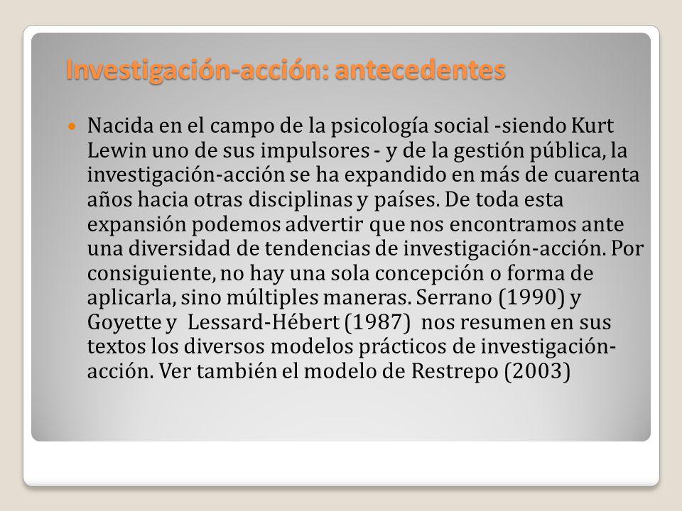 Investigación-acción: antecedentes