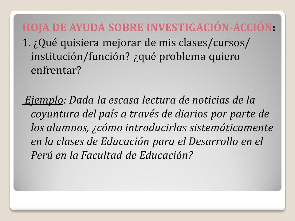 HOJA DE AYUDA SOBRE INVESTIGACIÓN-ACCIÓN: