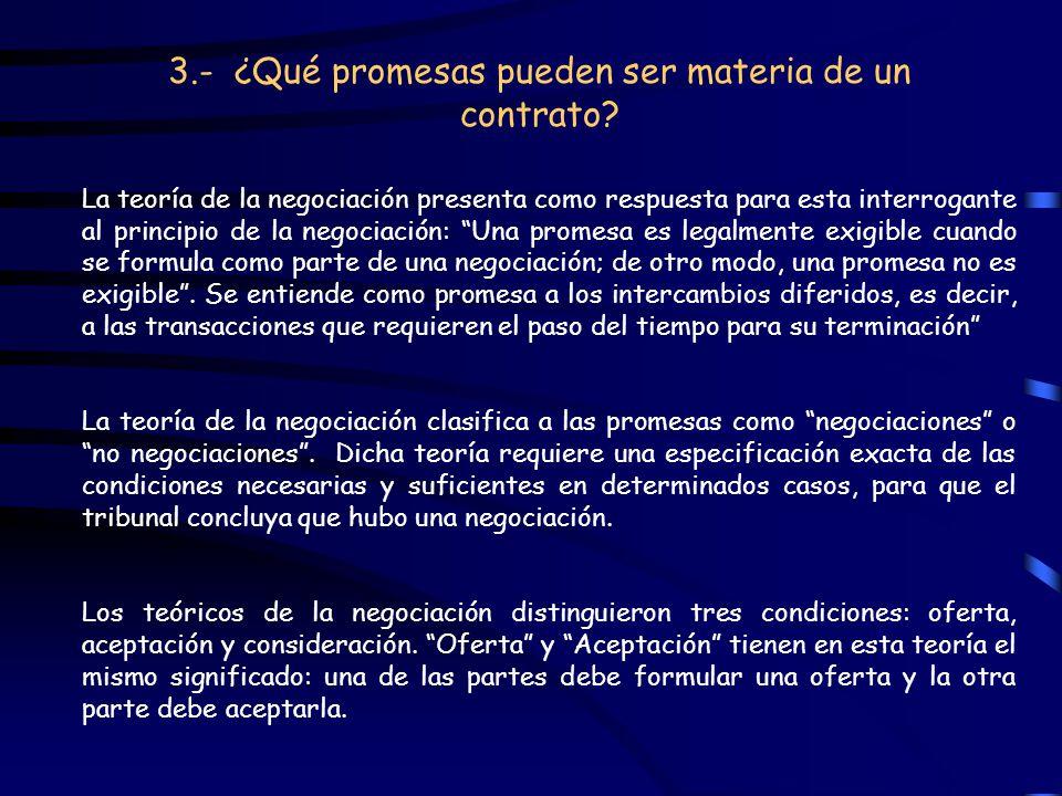 3.- ¿Qué promesas pueden ser materia de un contrato