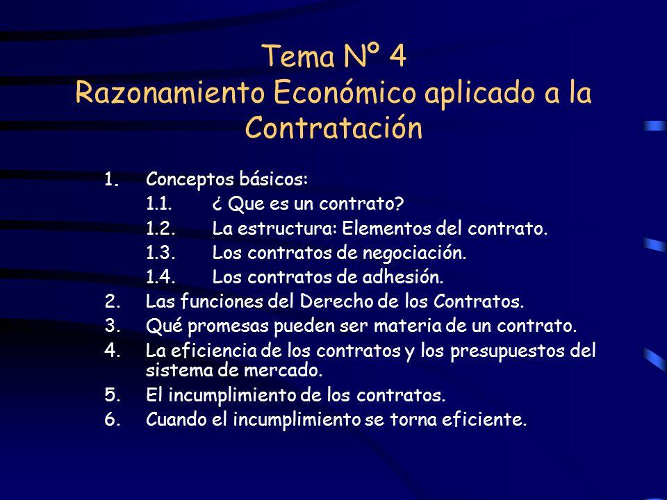 Tema Nº 4 Razonamiento Económico aplicado a la Contratación