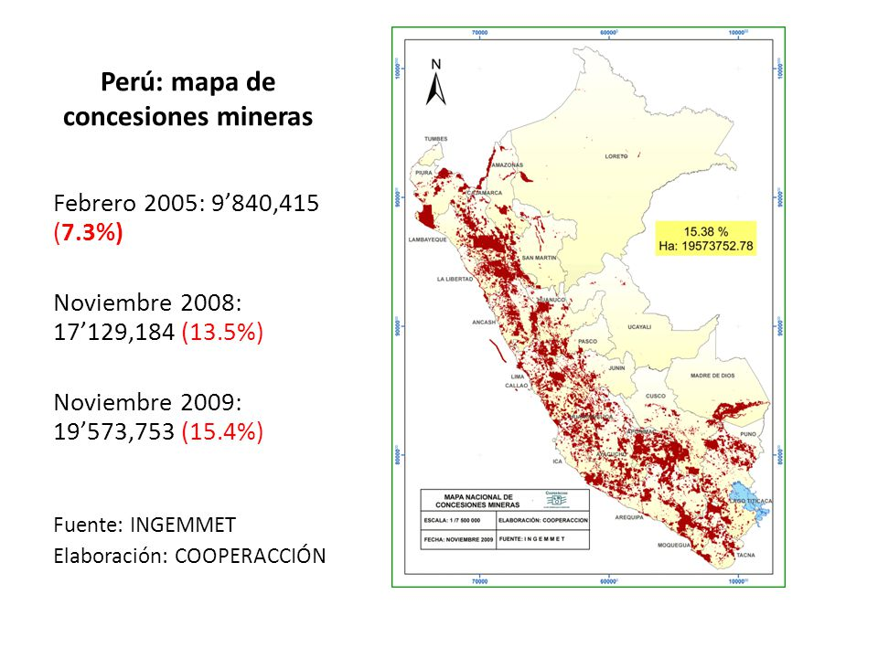 Perú: mapa de concesiones mineras