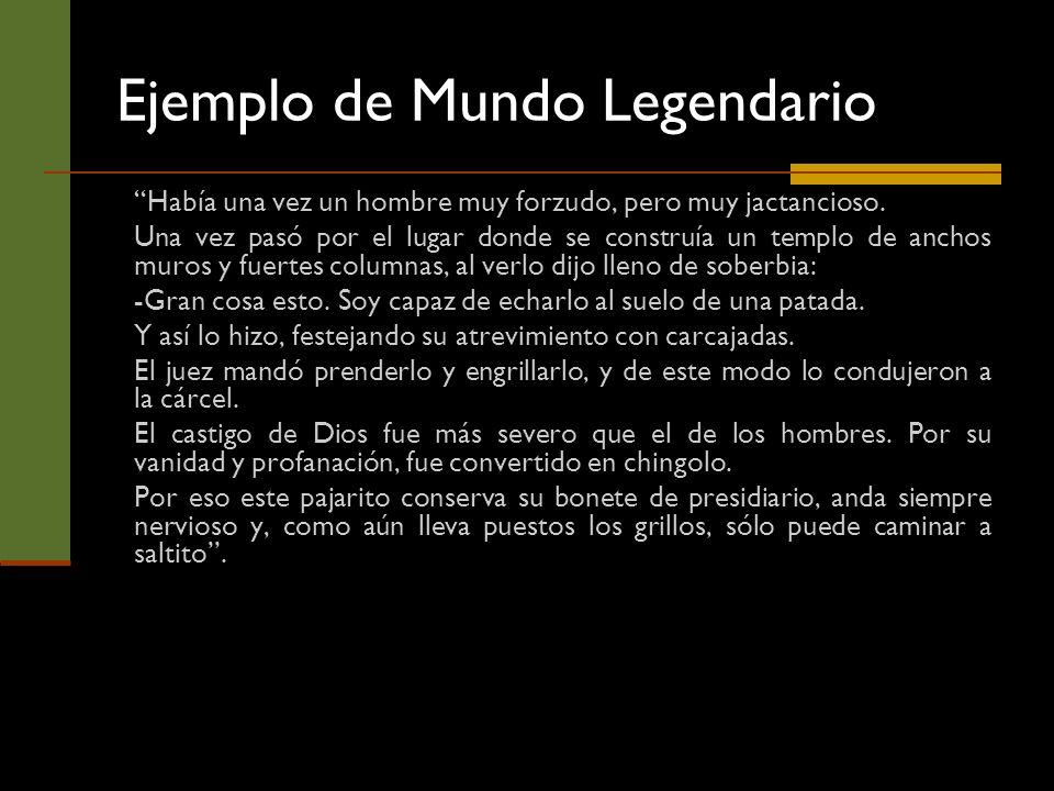 Ejemplo de Mundo Legendario
