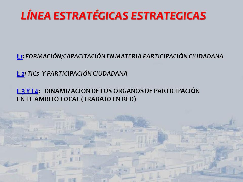 LÍNEA ESTRATÉGICAS ESTRATEGICAS