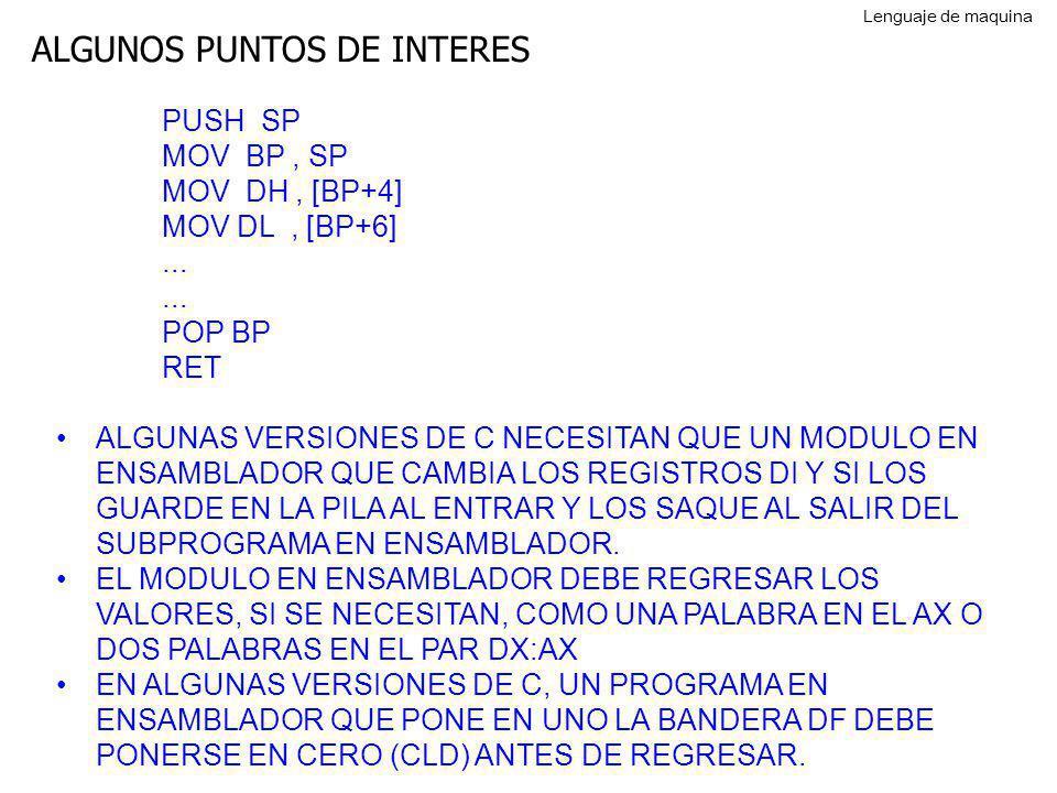 ALGUNOS PUNTOS DE INTERES