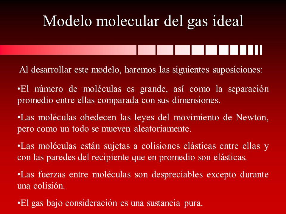 Modelo molecular del gas ideal