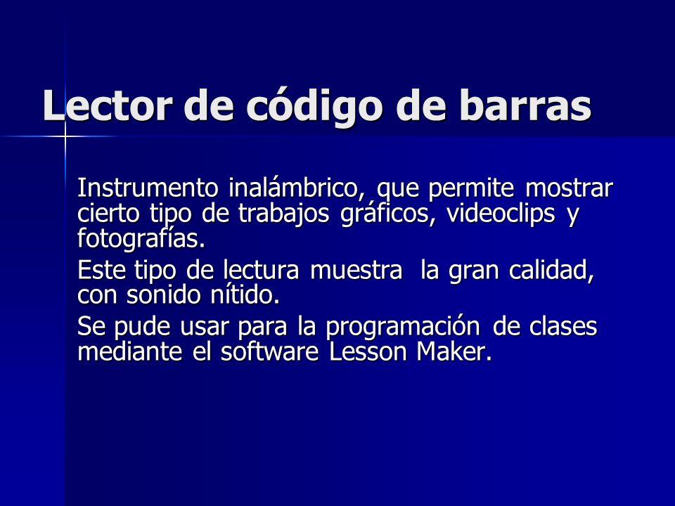Lector de código de barras