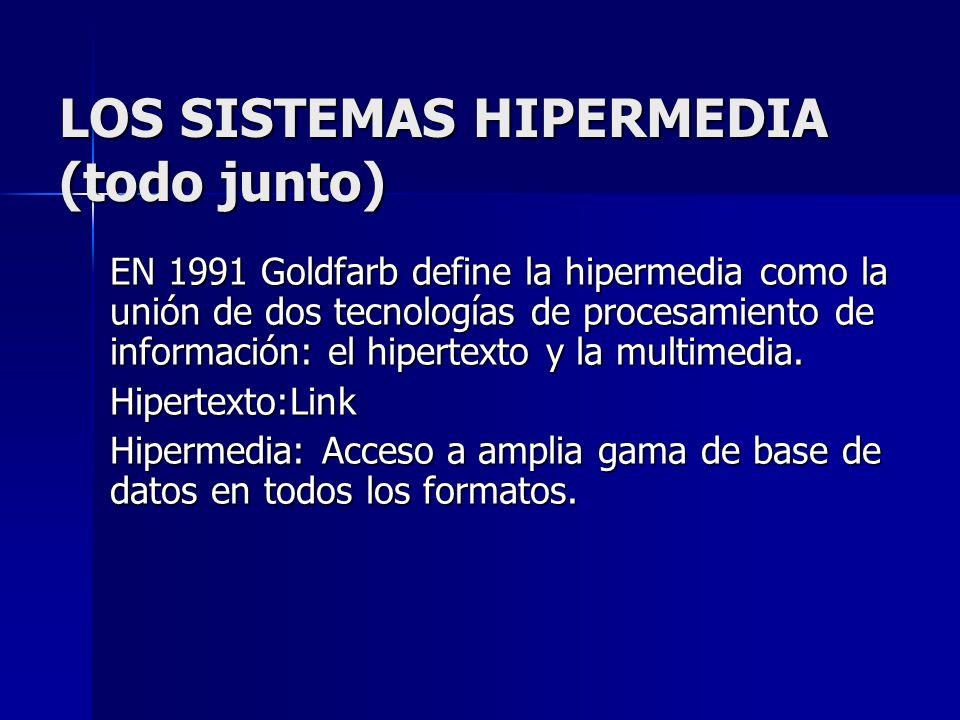 LOS SISTEMAS HIPERMEDIA (todo junto)