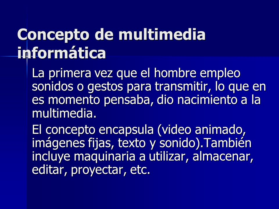 Concepto de multimedia informática