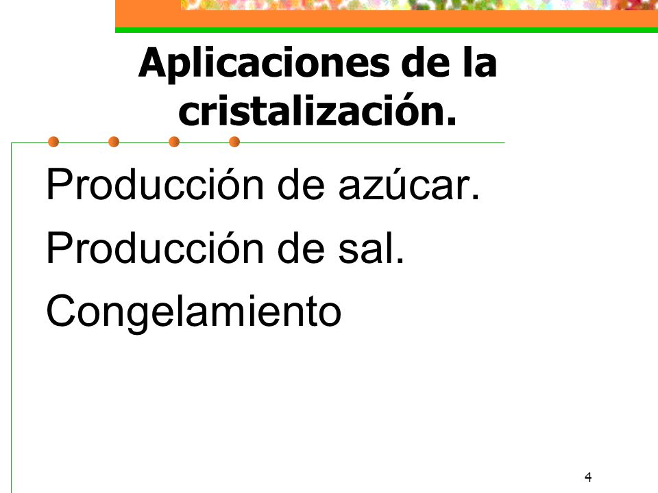 Aplicaciones de la cristalización.