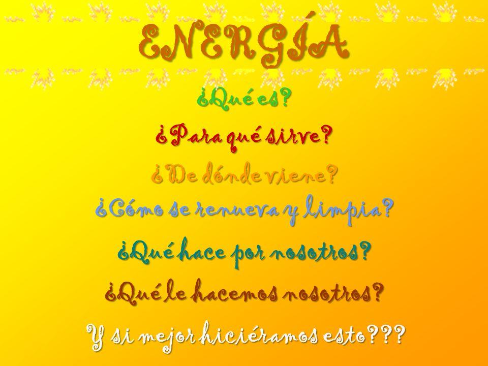 ENERGÍA ¿Qué es ¿Para qué sirve ¿De dónde viene
