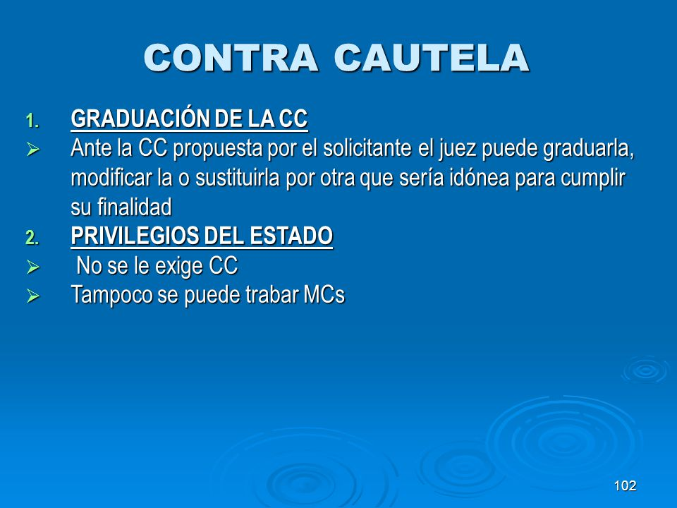 CONTRA CAUTELA GRADUACIÓN DE LA CC