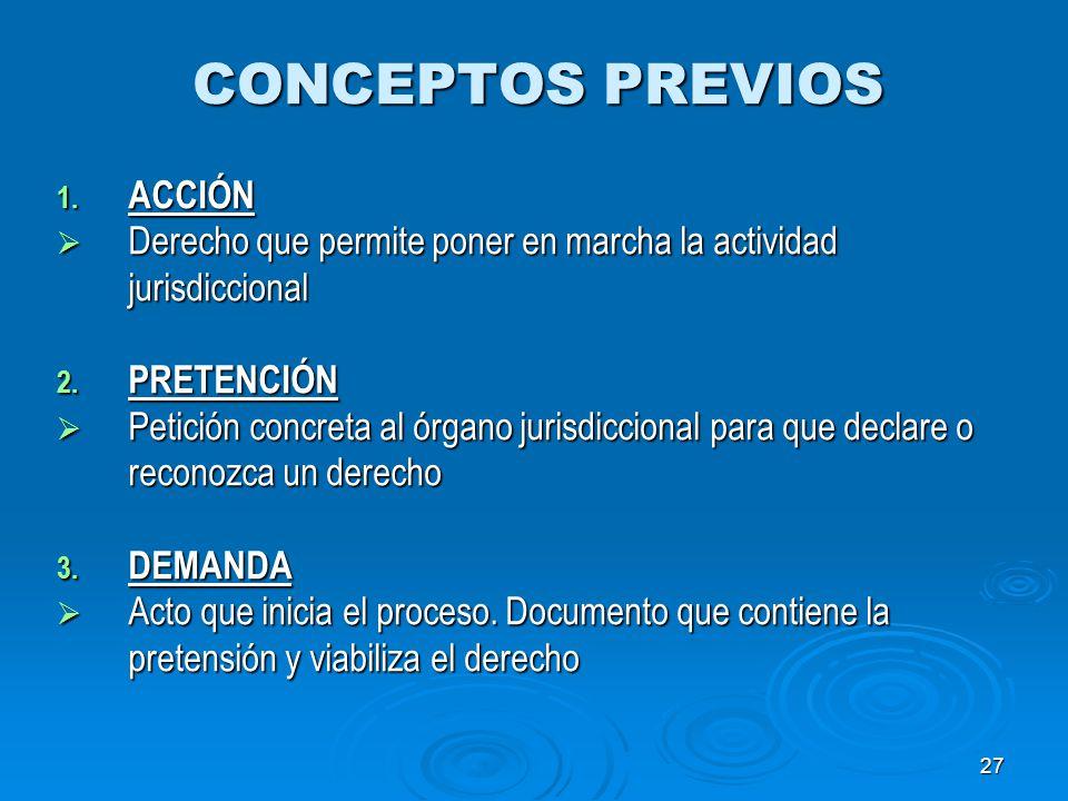 CONCEPTOS PREVIOS ACCIÓN