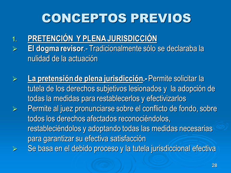 CONCEPTOS PREVIOS PRETENCIÓN Y PLENA JURISDICCIÓN