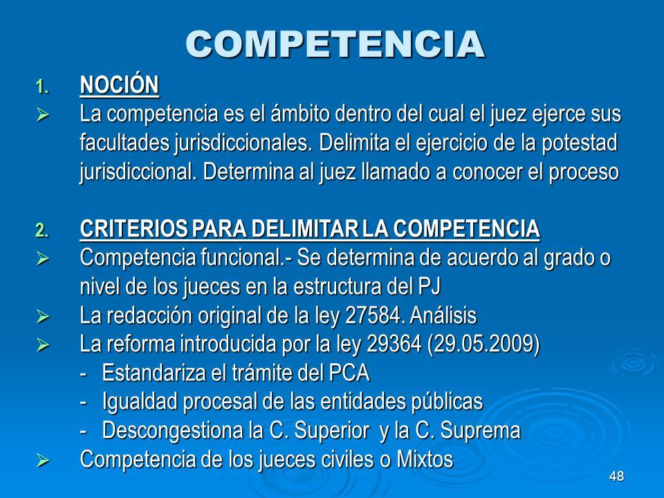 COMPETENCIA NOCIÓN.