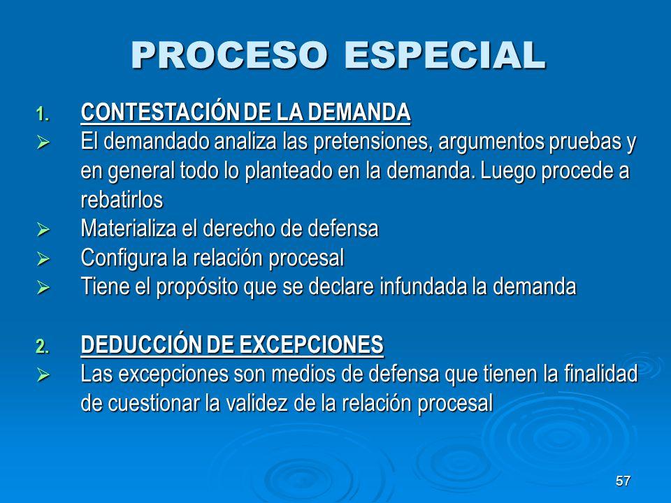 PROCESO ESPECIAL CONTESTACIÓN DE LA DEMANDA