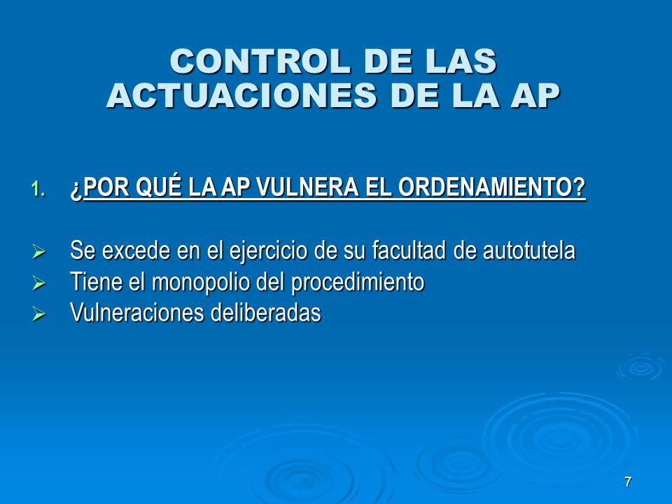 CONTROL DE LAS ACTUACIONES DE LA AP