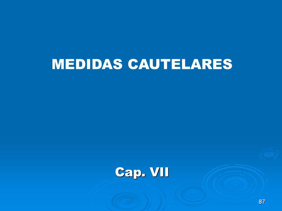 MEDIDAS CAUTELARES Cap. VII