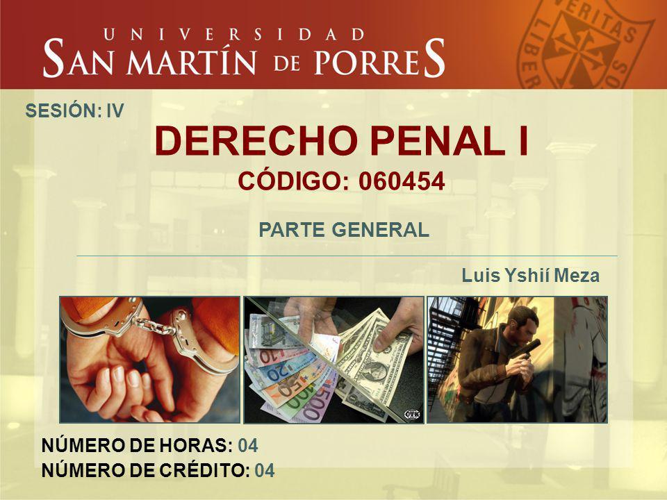 DERECHO PENAL I CÓDIGO: 060454