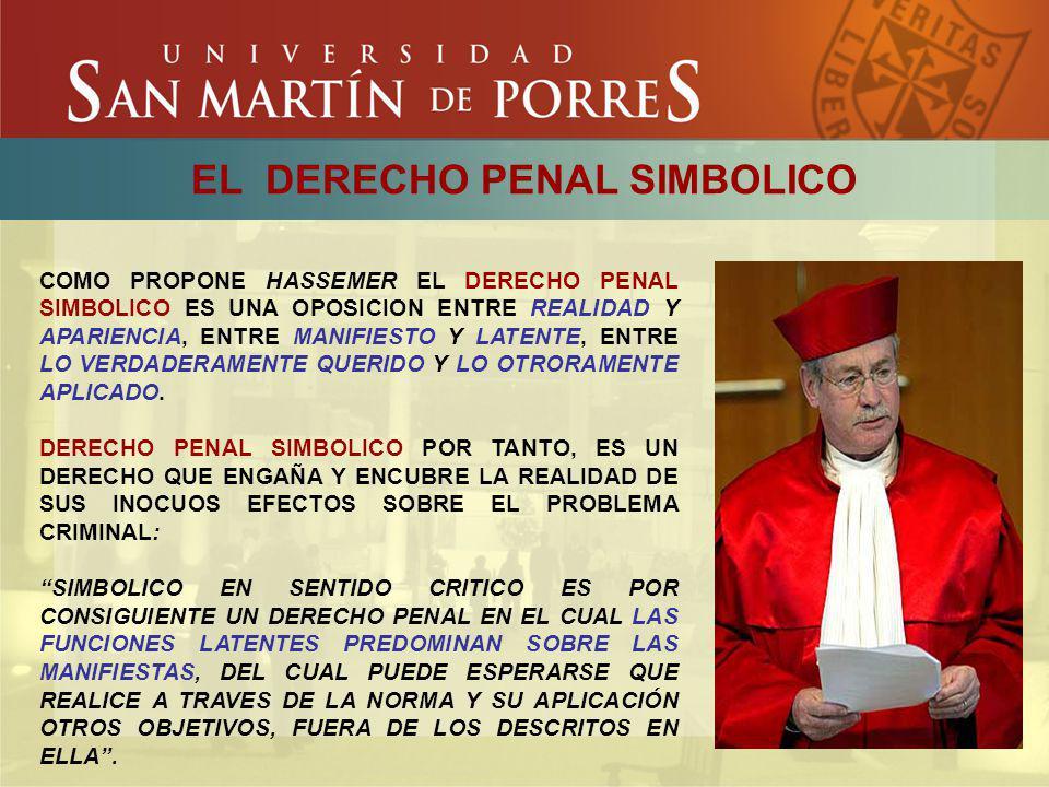 EL DERECHO PENAL SIMBOLICO