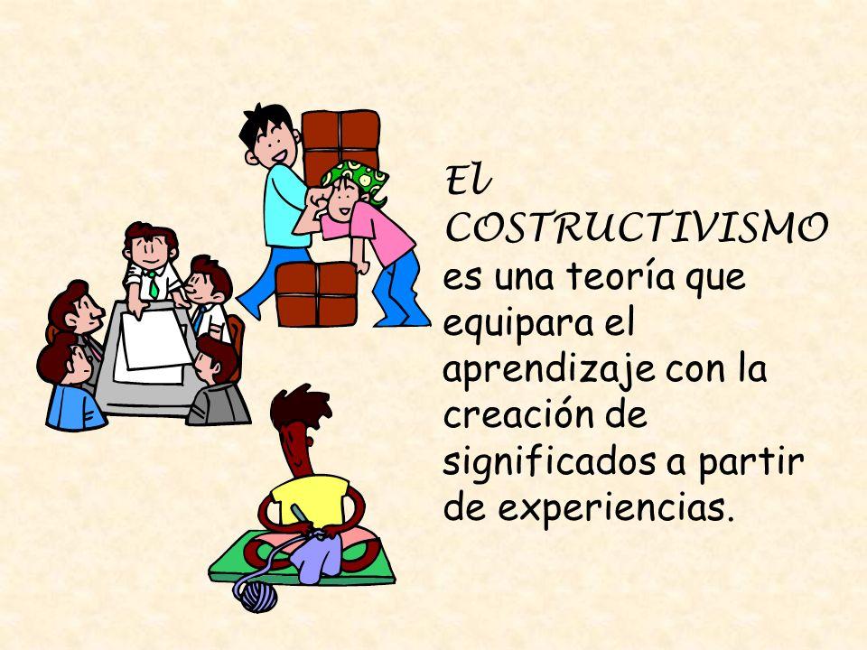 El COSTRUCTIVISMOes una teoría que equipara el aprendizaje con la creación de significados a partir de experiencias.
