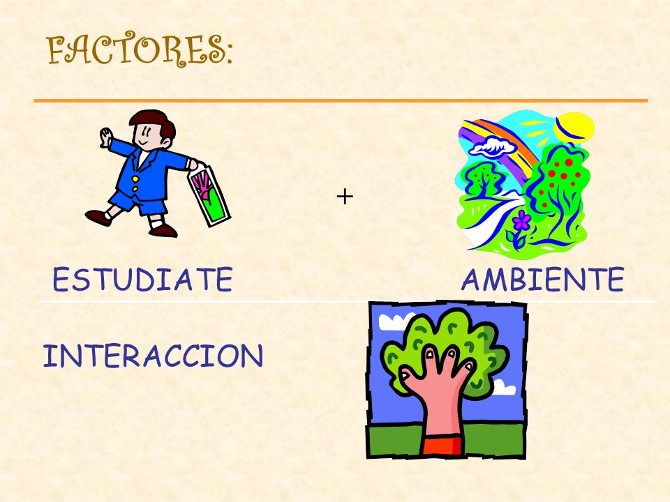 FACTORES: AMBIENTE ESTUDIATE + INTERACCION