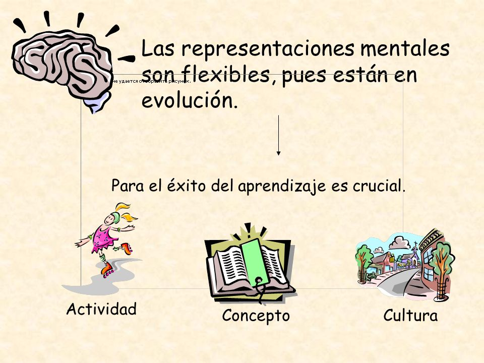 Las representaciones mentales son flexibles, pues están en evolución.