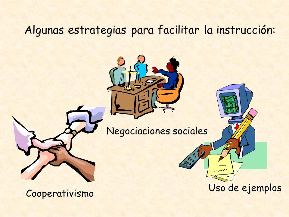 Algunas estrategias para facilitar la instrucción: