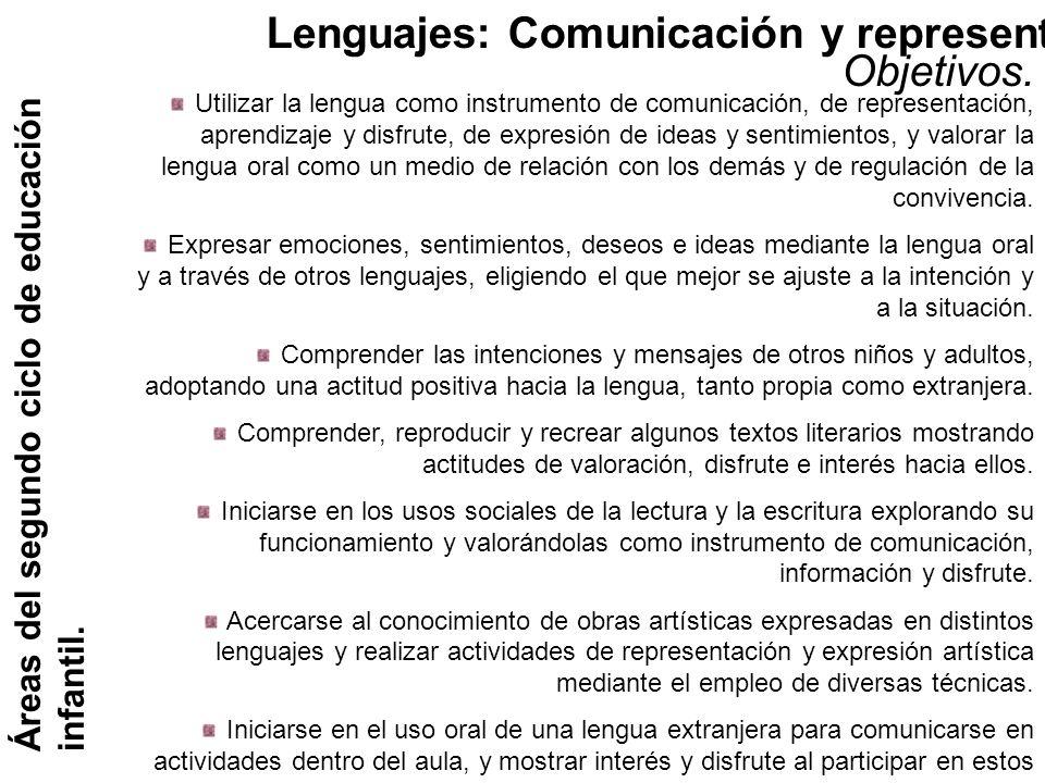 Lenguajes: Comunicación y representación. Objetivos.