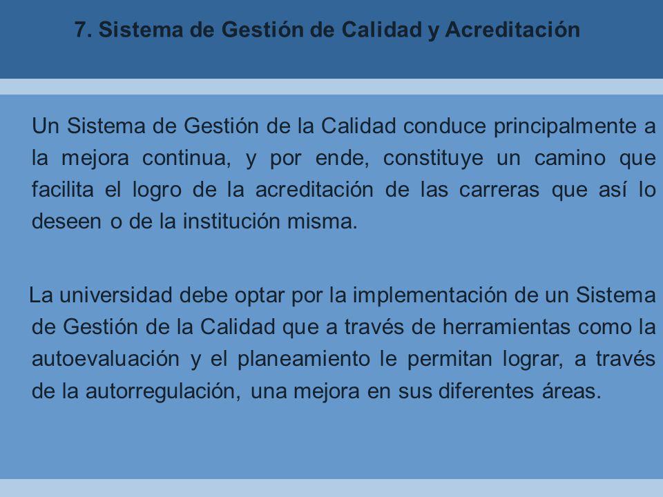 7. Sistema de Gestión de Calidad y Acreditación