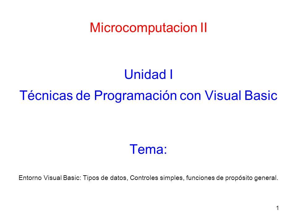 Técnicas de Programación con Visual Basic