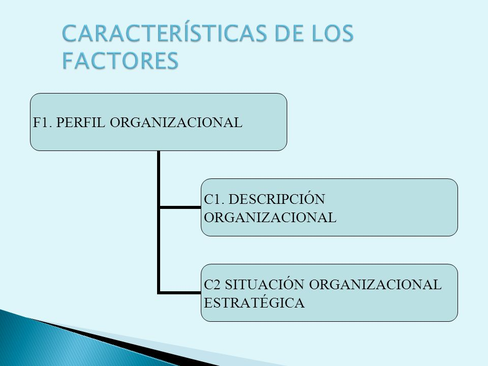 CARACTERÍSTICAS DE LOS FACTORES