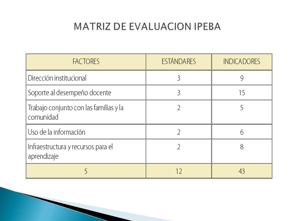 MATRIZ DE EVALUACION IPEBA